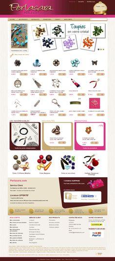 Boutique PrestaShop Perles et loisirs