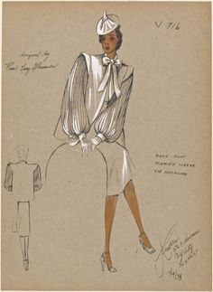 From New York Public Library Digital Collections. Fashion Illustration Sketches, Fashion Sketchbook, Fashion Sketches, Retro Fashion, Vintage Fashion, 1930s Fashion, Victorian Fashion, Vintage Style, Costume Design Sketch