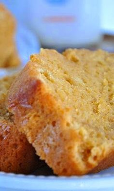 Starbucks Pumpkin Pound Cake - This pound cake is awesome. I used three eggs an 1/2 cup of butter. Glazed with powdered sugar and eggnog, AWESOME!