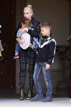 Gwen Stefani takes her boys Kingston, Zuma and Apollo to church