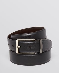 The Men's Store at Bloomingdale's Mr. Pebble Leather Belt