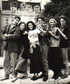 David Schwimmer, Jennifer Aniston, Courteney Cox, Matt LeBlanc, Lisa Kudrow, and Matthew Perry