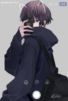 Dark Anime Guys, Cool Anime Guys, Hot Anime Boy, Handsome Anime Guys, Anime Boys, Black Hair Anime Guy, Yandere Anime, Anime Neko, Anime Devil