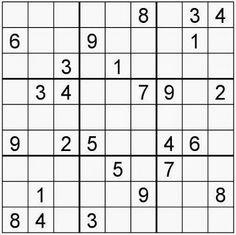 Sudoku para nios  Mate  Pinterest  Crucigramas Sopas de