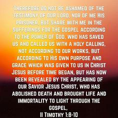 2Timothy 1:8-10