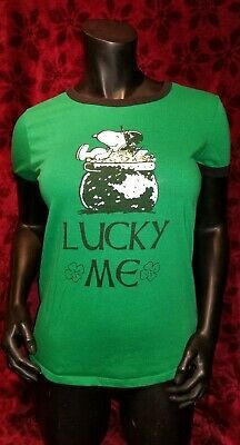 Womens tee shirts lucky me st Patrick/'s day LARGE