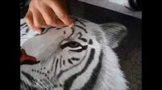 Portrait of a White Tiger - 740768 #Handmade #Silk #Embroidery #Art completely handmade by master artists in Suzhou, China. Asian decor for Feng Shui, Gifts & Art Collectors. Please visit our website at www.queensilkart.com.  You can also find King Silk Art's shop on Amazon.com or visit our Etsy shop at: https://www.etsy.com/shop/KingSilkArt
