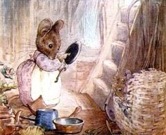 Spring cleaning :) I love the mice dresses and aprons.
