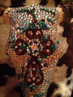 Blinged out cow skull! Now how come I can't get mine to turn out like this???