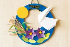"""""""Hold nézet bérleti"""" díszíteni origami nyulak Origami Wreath, Origami And Kirigami, Origami Flowers, Origami Paper, Paper Flowers, New Year's Crafts, Cute Crafts, Fall Crafts, Diy And Crafts"""
