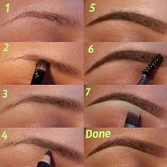 How to color in your eyebrows