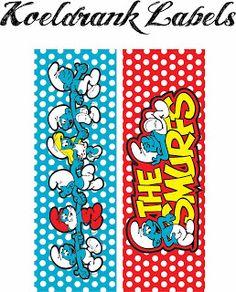 Laine Design: Freebies bottle labels smurf theme