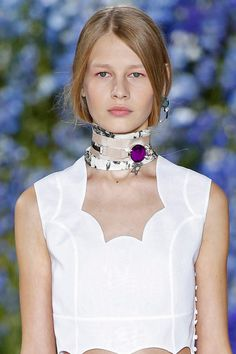 The neck got some serious attention at #PFW. See our other picks for the top trends we are seeing for Spring
