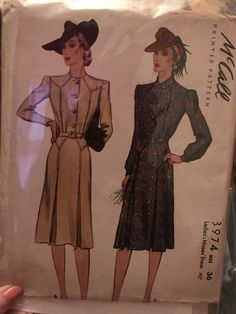 McCall 3974: Ladies' and misses' dress pattern from 2940