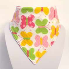 A beautiful spring themed dribble bib. With a 100% cotton top fabric and a white microfleece underside. £3.50 plus P&P