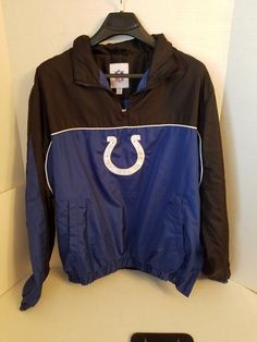 G-III Apparel NFL Mens Pull Over Jacket Wind Breaker Indianapolis Colts XL   #GIII #CoatsJackets #IndianapolisColts