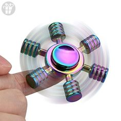 Auwer Premium Six-Axes Rainbow Fidget Hand Spinner Finger Single Spin Toy Ultra Fast Bearings Silent EDC Dustproof Durable Fingertip Gyro For ADD,ADHD,Boredom, Anxiety, Autism Adults/Kids - Fidget spinner (*Amazon Partner-Link)