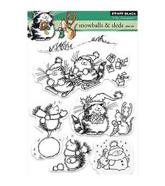 Decorate fun-themed craft projects with inked designs, using the Penny Black Clear Stamps. Featuring unique and attractive designs, these clear stamps make a great addition to your art and craft acces