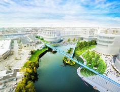 PORT Urbanism's plan to connect the 606 linear park to the Chicago River. (PORT Urbanism)