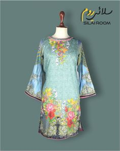 Shirt with Digital Print Full sleeves (Bell Shape) Fabric: Lawn Full Sleeves, Lawn, Digital Prints, Tunic Tops, Shape, Fabric, Summer, Shirts, Collection