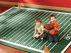 *Football Field Rug - Kids' Rugs and Classroom Rugs from Kid Carpet