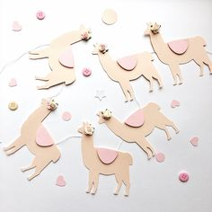 Excited to share the latest addition to my #etsy shop: Llama Baby Shower Banner Llama Birthday Party Decorations Llama Blush Wedding Garland Llama Bridal Shower Banner Llama Mama Llama Nursery