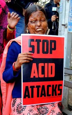 Stop acid attacks on women. These women are getting acid thrown at them as revenge from men.  Please share and help out.