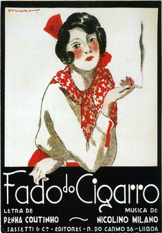 """Fado do Cigarro"" by portuguese illustrator Stuart Carvalhais (1887-1961)."