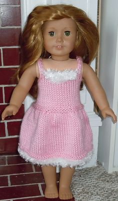 Doll Ice Skating Dress free knitting pattern by Heather Kelly