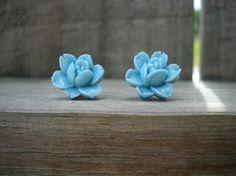 4. Something blue #modcloth #wedding tiny flower earrings.