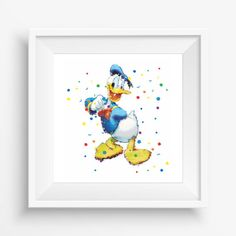 Duck Donald,Disney,digital watercolor, for children, Kids Room Decor,Nursery Decor,Baby Gift,Instant Download,