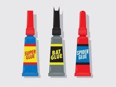 Standard Adhesives. T-shirt concept art by Glenn Jones, a freelance Graphic Designer, Illustrator, Artist from Auckland, New Zealand. http://www.glennz.co.nz | https://store.glennz.com | https://www.behance.net/Glennz #glennz #superglue