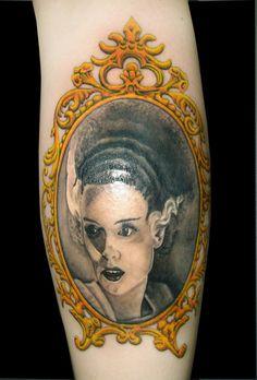 'bride of frankenstein' tattoo - art by *asussman