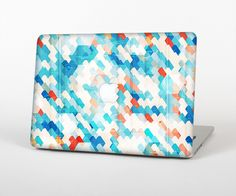 """The Modern Abstract Blue Tiled Skin Set for the Apple MacBook Pro 15"""" with Retina Display from Design Skinz"""