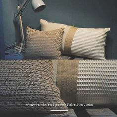 Cotton & burlap pillows. order in store!  visit: www.naturalgreekfabrics.com #naturalgreekfabrics #natural #pure #fabrics #home #decor #interior #design #cotton #burlap #athens #greece