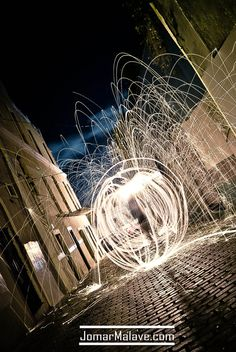 steel wool photography  http://www.youtube.com/watch?v=LJkBLMhXvcQ