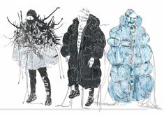 Design - New Sites Fashion Illustration Portfolio, Fashion Design Sketchbook, Fashion Design Portfolio, Illustration Mode, Fashion Sketches, Art Portfolio, Medical Illustration, Illustrations, Textiles Sketchbook