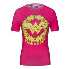 2016 Date Marvel Superman/Captain America/Wonder Woman/Batgirl Compression T-shirt Femelle Imprimé T-shirt pour dames Superhero Superman, Batman Shirt, Spiderman, Batman Wonder Woman, Wonder Woman Logo, Wonder Women, Batgirl, Captain America, Crossfit Shirts