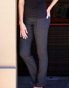 Tequila Sunrise JoFit Ladies & Plus Size Jo Slimmer Melange Stripe Golf Pants at #lorisgolfshoppe