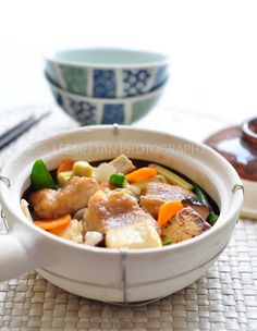Claypot Fish (砂煲鱼) - My Cooking Hut - Food & Travel Claypot Recipes, Tofu Recipes, Asian Recipes, Keto Recipes, Dinner Recipes, Cooking Recipes, Ethnic Recipes, Yummy Recipes, Lunches And Dinners