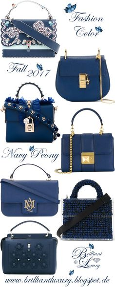 Brilliant Luxury by Emmy DE ♦ Fashion Color Fall 2017 ~ navy peony