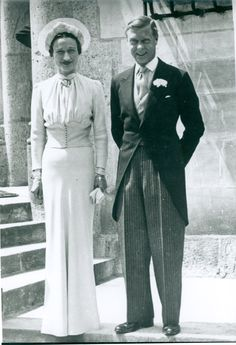 The Duke and Duchess of Windsor were married today, 3rd June, 1937 The Duke (the abdicated King Edward VIII) married American divorcee Mrs Wallis Simpson privately in a chateau near Tours, France