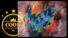 How to paint a Blended Acrylic Abstract tutorial with Ginger Cook