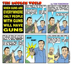 Cartoon: Guns everywhere