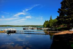 Gorgeous morning vacation view at Bear Paw Resort, Park Rapids Minnesota, Two Inlets Lake