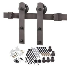 Found it at Wayfair - Straight Strap Sliding Barn Door Hardware