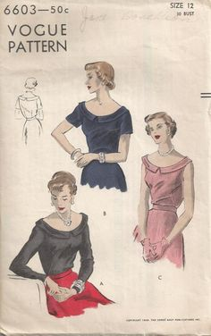 Vogue 6603, 1949