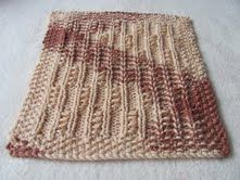 Free Knitting Pattern - Dishcloths & Washcloths : Twisted Columns Dishcloth