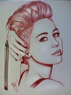 Amazing draw Miley Cyrus