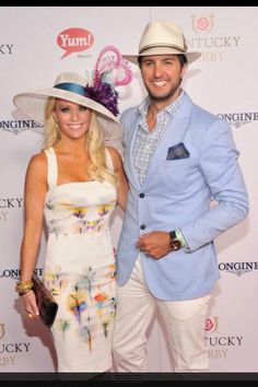 Luke and his wifey at the Derby...man oh man, he cleans up well <3